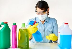Decluttering cleaning products